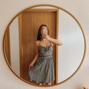 Black gingham halter top dress